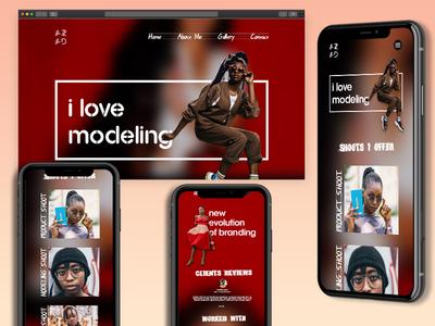 Modeling  Web & Mobile UI web vector app illustration adobe xd adobe xd photoshop website typography identity branding ux