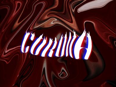 Corona Virus typography text effect