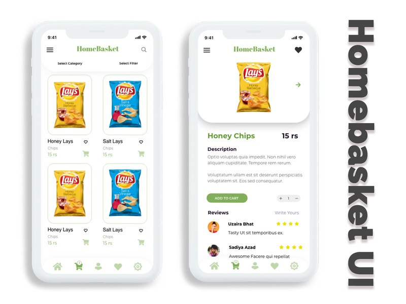 Homebasket Food Delivery UI Concept. vector logo illustration photoshop ui website typography identity design branding ux