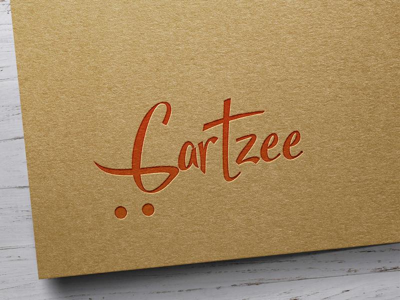 Cartzee logo concept for a E-commerce ux branding illustration ui animation photoshop website typography identity design logotype ecommerce cart typo logo