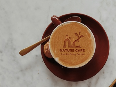 Nature Café Logo Designed For Client vector animation illustration photoshop ui website typography ux identity design branding