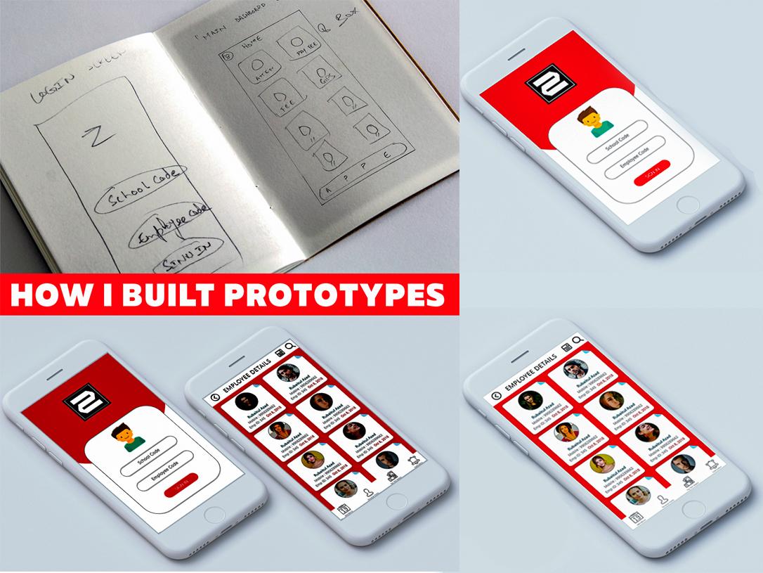Education ERP - Login & Employee Details typography app web identity branding animation ux ui design
