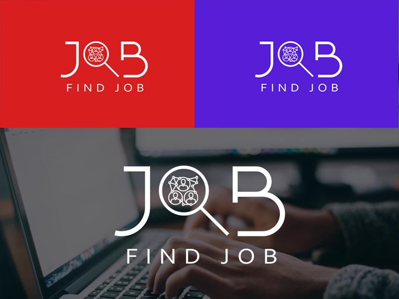 Find Job Logo minimal ios animated lettering illustration clean animation website identity illustrator character photoshop typography flat branding vector logo ui ux design