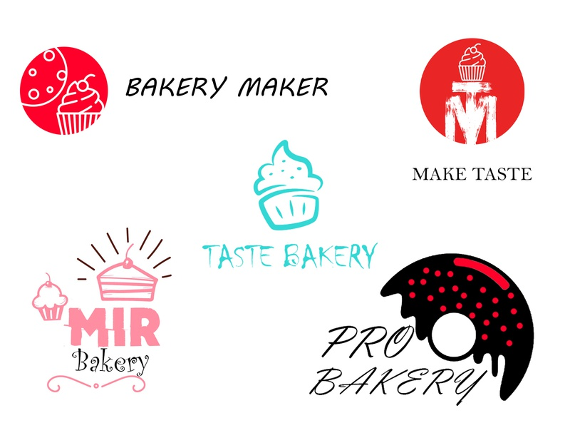 Bakery Logos vector logo illustration animation ux typography ui identity branding design website
