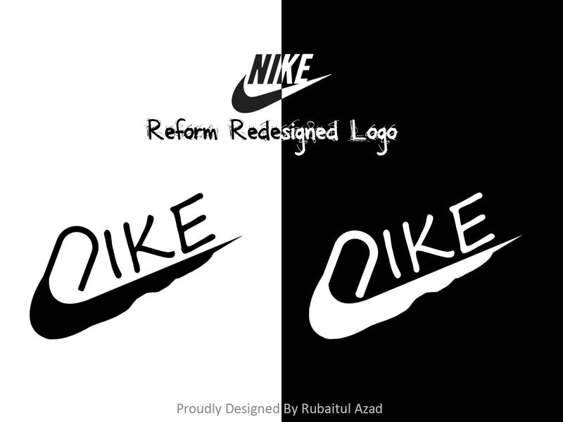 Nike reform redesigned logo icon photoshop typography ui ux identity branding design nike air redesigned logo nike
