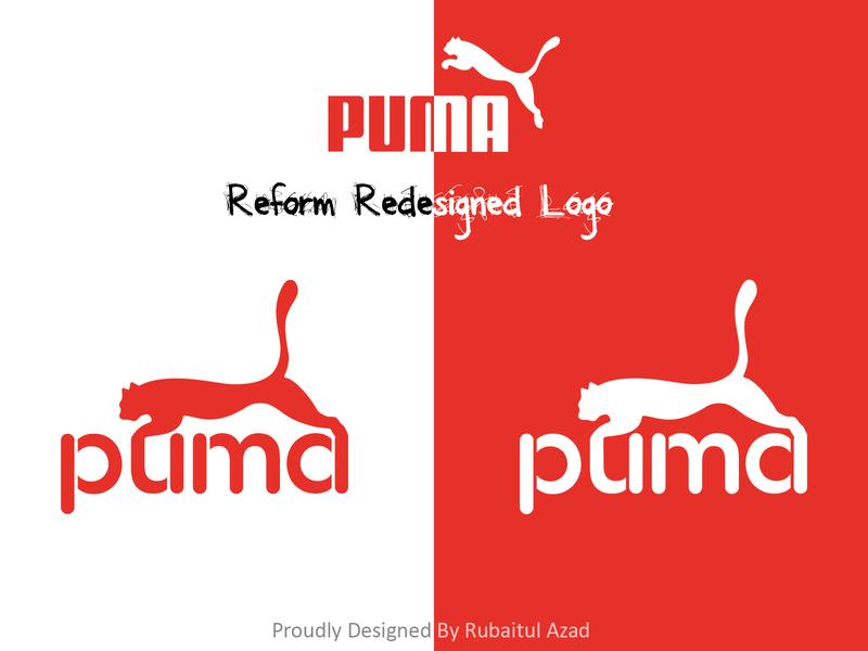 Puma reform redesigned logo illustration photoshop animation website typography identity branding ux design logo design redesign rebrand logodesign logo puma
