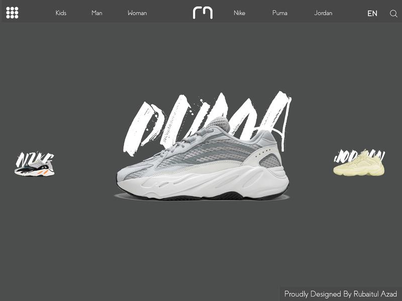 Shoes Shop Web UI Animate adobe minimal flat icon illustrator logo character web vector app illustration photoshop animation website ui typography identity ux branding design