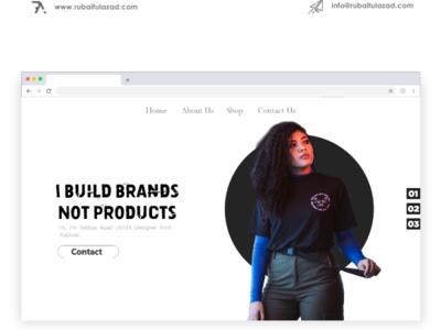 Hero Web UI Design vector app illustration photoshop animation website ui typography identity branding ux design
