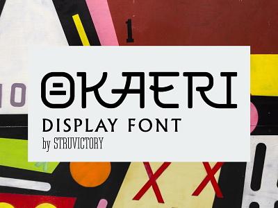 Okaeri - Decorative Ligature Font typogaphy typography art stylish font modern font line art decorative font fontself font designer display font japan logo font japanese culture font awesome font design design creativemarket