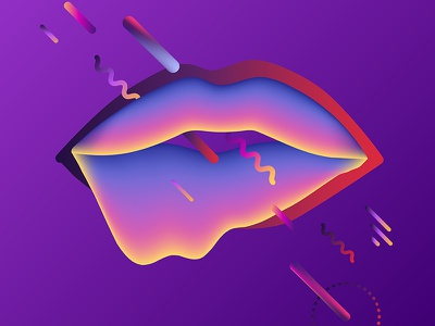 Fluid kiss kiss geometric background abstract ultraviolet cosmic vector neon gradient fluid