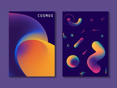 Fluid Posters cosmonautics background abstract ultraviolet cosmic vector neon gradient fluid