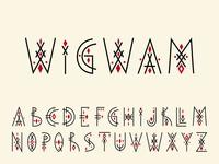 """Tribal alphabet """"Wigwam"""""""