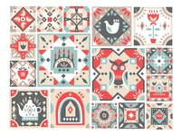 Folk Tile Graphic Collection