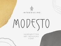 Modesto - Art Nouveau Handwritten Font