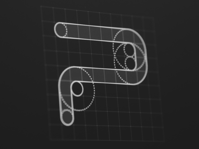 Psiu Puxa logo logotype guides lettering brandmark mark symbol p