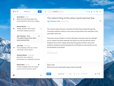 AlpMail — quick reply mail app macos interface reply ui ux
