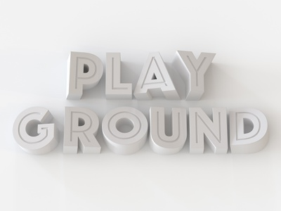 Playground yellow typography 3d cinema4d c4d playoff contest wix playground