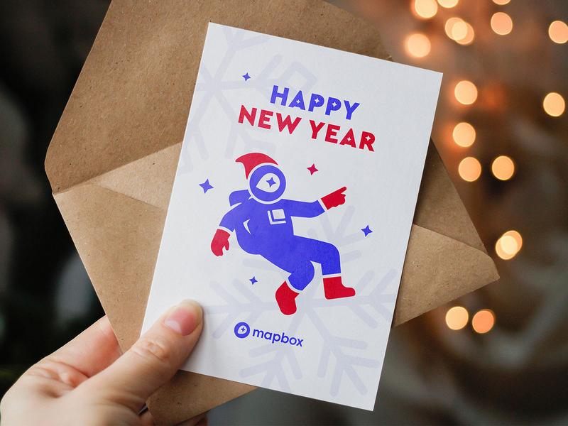 Greeting card prius card greetingcard mapbox design newyear postcard print