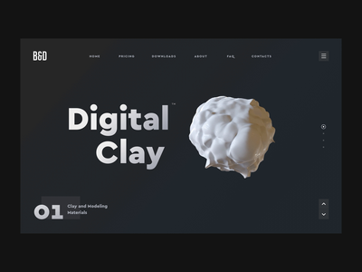 Digital Clay typography loop web transition design illustration interface ux app ui gif cinema 4d render animation c4d 3d