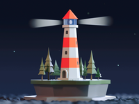 Tiny lighthouse