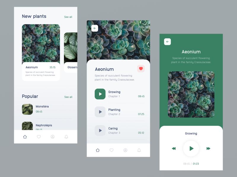 Plant App interface green mobile design plant app iphone x iphone ios uxdesign ux ui