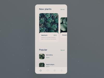 Plant App Transitions