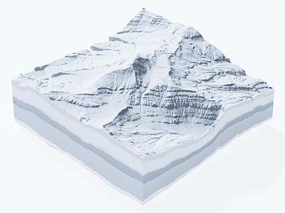 3d terrain light illustration design ui gif cinema 4d render animation 3d c4d