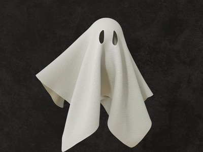 Ghost ghost illustration design cinema 4d render animation 3d c4d