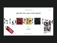 High Fidelity — Store minimalism illustration fonts brutalism art website webdesign interface typography grid minimal layout design ux ui
