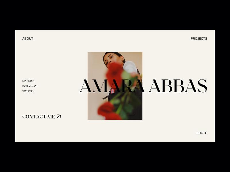 Amara Abbas Portfolio website webdesign interface typography grid minimal layout design ux ui