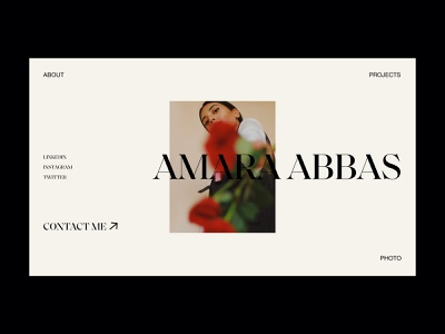 Amara Abbas Portfolio website webdesign interface typography grid minimal layout design ux ui