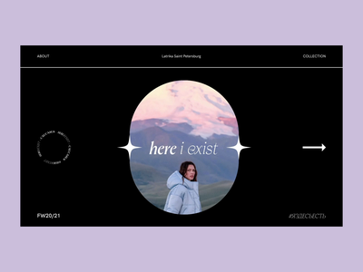 Here I Exist — Caucasus motion webdesign interaction typography grid minimal layout design ux ui