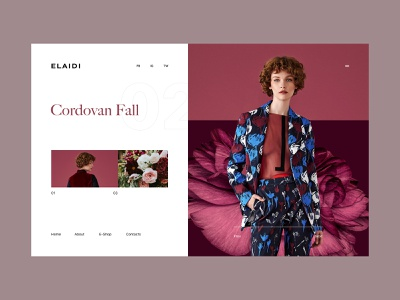 Elaidi Fall Collection flowers girl fashion editorial design pastel colors fashion store e commerce ux ui