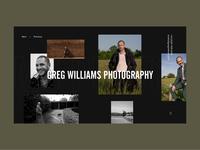 Greg Williams Photographer Personal Website