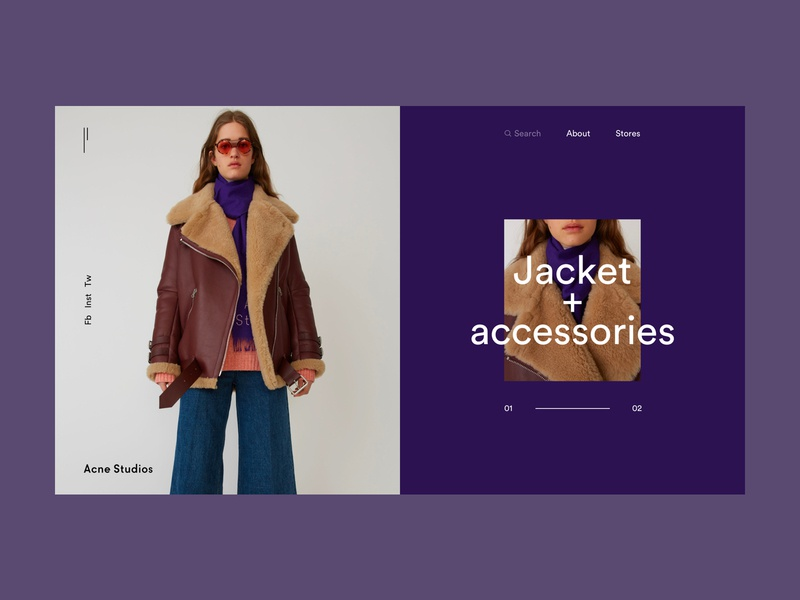 Acne Studios Store clothes webdesign web interaction interface grid fashion store fashion e commerce art minimal layout typography design ux ui