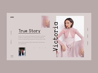 Moms — Storytelling Concept story website webdesign web interface interaction pastel colors grid art minimal layout typography design ux ui