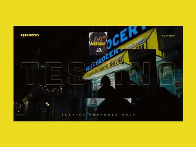 A$AP — Testing music album promo music video video music motion webdesign web animation interface interaction art grid minimal layout typography design ux ui