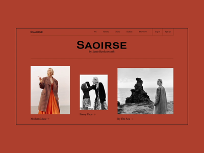 Saoirse — Storytelling storytelling story article interview website webdesign web motion animation interface interaction art grid minimal layout typography design ux ui