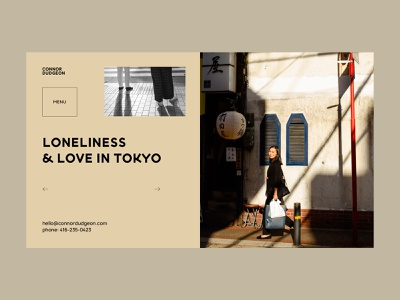 Loneliness & Love in Tokyo website web webdesign interface grid minimal layout typography design ux ui