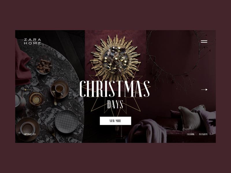 ZARA Home — Christmas decor zara fashion e commerce website motion webdesign web animation interaction interface art grid minimal layout design ux ui