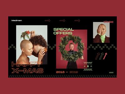 Xmasss — Medmen holidays vector e commerce extraordinary store xmas christmas website webdesign web interface grid art typography layout design ux ui