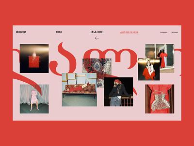 Dalood — Fashion Store georgian georgia fashion store fashion e commerce website webdesign web interaction interface art typography grid minimal layout design ux ui