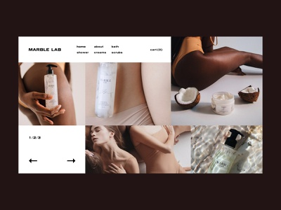 Marble Lab — Cosmetics Store store cosmetics clean e commerce website web webdesign interaction interface art typography grid minimal layout design ux ui
