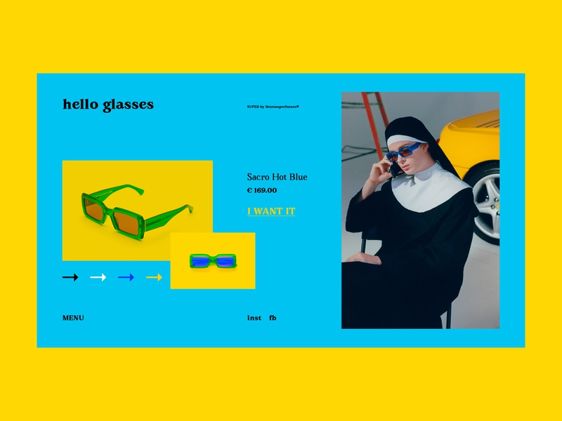 Hello Glasses store fashion fashion store glasses bright website webdesign web art interaction interface typography grid minimal layout design ux ui