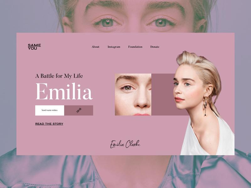 Emilia — A Battle for My Life storytelling story news celebrity promo pastel colors website webdesign web interface typography grid minimal layout design ux ui