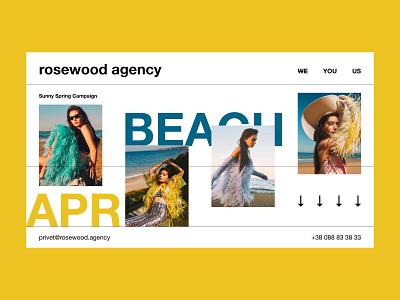 Rosewood — Agency website webdesign interaction web interface typography grid minimal layout design ux ui
