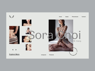Sora Choi — Magazine Issue Gallery gray pastel colors fashion interaction website webdesign web art interface typography grid minimal layout design ux ui