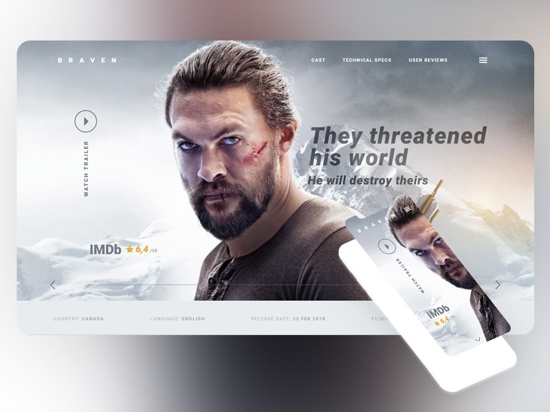 Braven Website Design FREE Adobe Xd free adobe xd movie braven