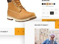 Timberland UX experiment 2