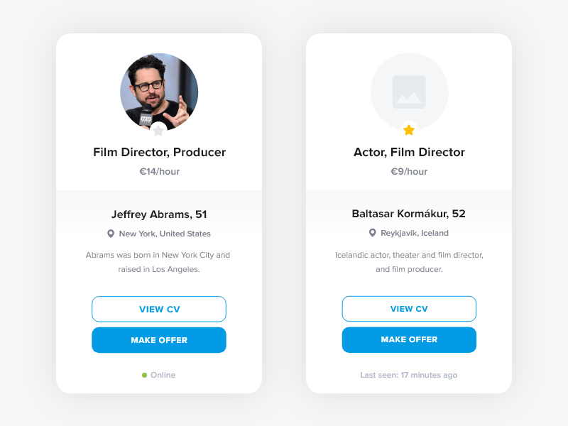 user card free adobe xd by viktor bryl